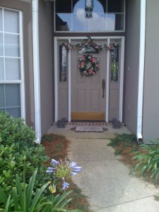 Front Door after Rebuildiing
