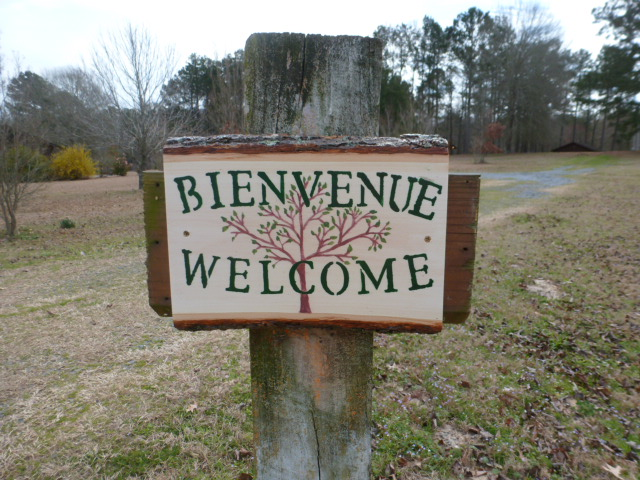 Basswood Welcome Sign