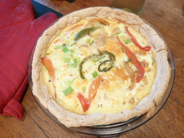 Grilled-Pepper Quiche