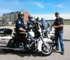 Patrol Officers at the La HOG Rally 2015