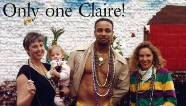 Mardi Gras with Claire and Random Guy